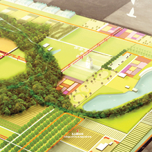 Detail of a Synthetic Farm Plan by Changchang Liu for a Landscape Architecture Studio, Spring 2014