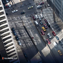 City Traffic from Above