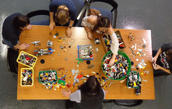 Art Lego Play Station at Rutgers University Art Library, Photo Courtesy of Megan Lotts
