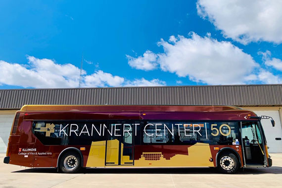 Krannert Center 50th Anniversary Bus