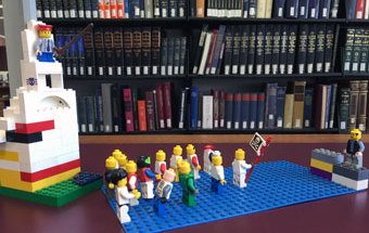 Lego in the Rutgers University Art Library, Photo Courtesy of Megan Lotts