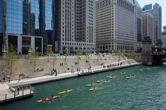 Chicago Riverwalk, Photo by Kate Joyce Photography