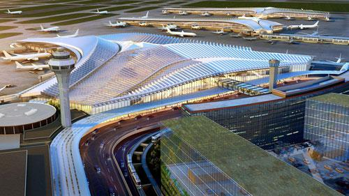 Global Terminal at Chicago O'Hare Airport by Studio Gang