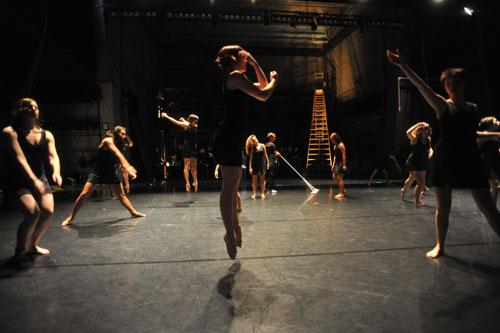 Dancers Backstage at Krannert Center, Photo by Natalie Fiol