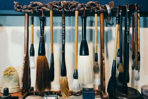 Calligraphy Brushes at Japan House