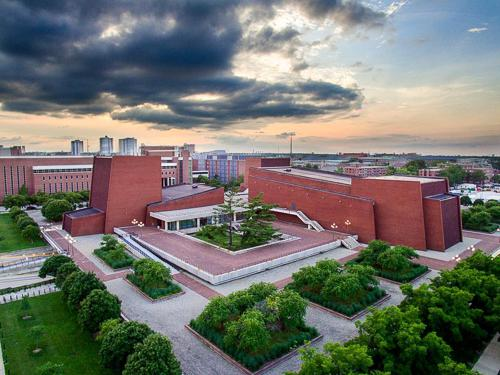 Krannert Center for the Performing Arts, Drone Photo by Michael Fransen