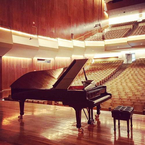 Piano in Foellinger Great Hall at Krannert Center