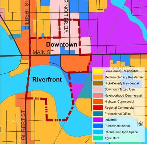 Danville Riverfront Future Land Use Plan