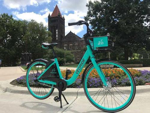 VeoRide Bike at the Alma Mater