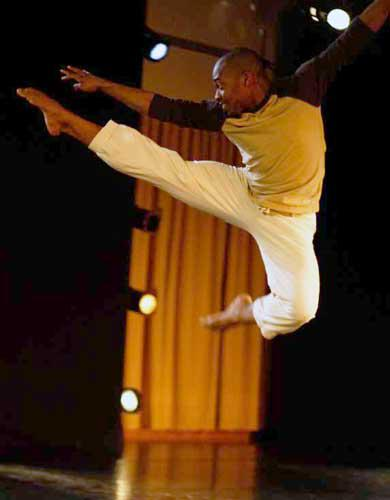 Aaron R. White Dances in His Piece In His Own Image